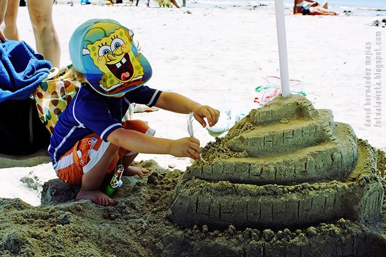 Bob Esponja y el castillo de playa