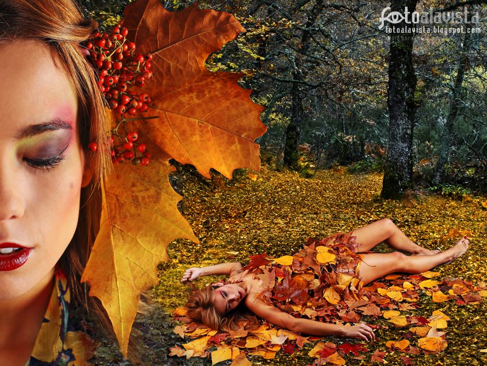 Equinoccio de otoño. Modelo: Esther Alvárez. Fotografía de estudio. Books