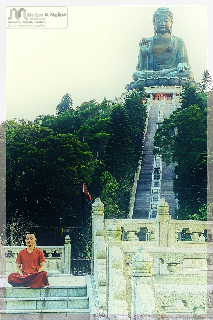 Meditación con la bendición de Buda - Fotografía artística