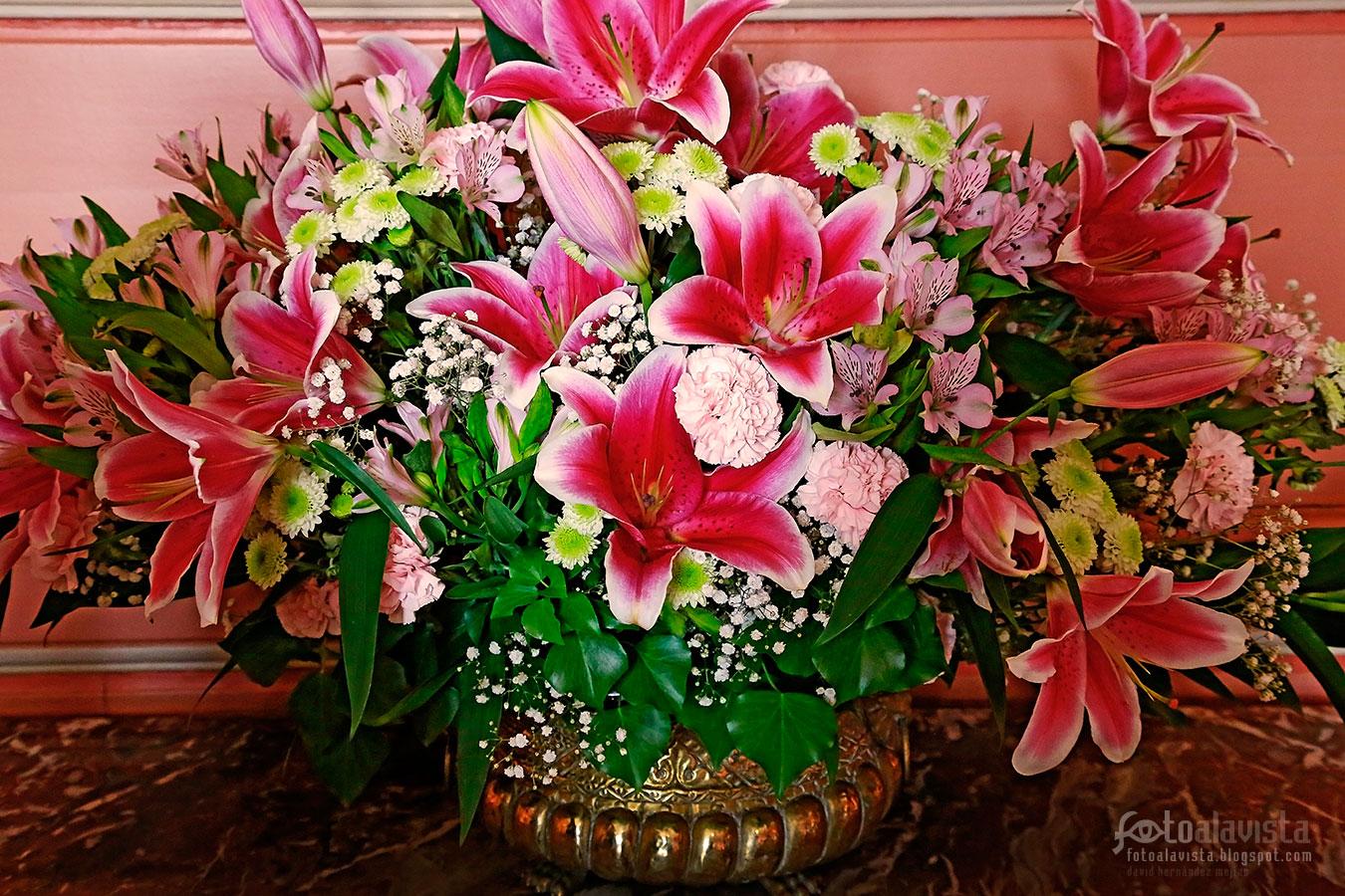 El jarrón con flores - Fotografía