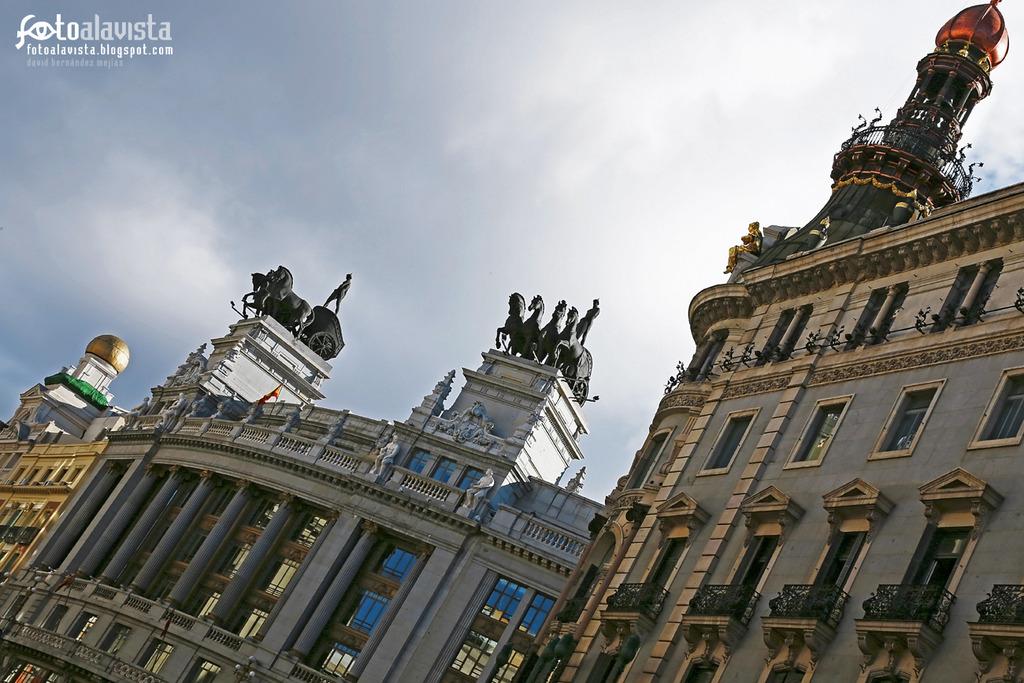 Cabalgando por el cielo de Madrid. Fotografía creativa - Fotografía artística