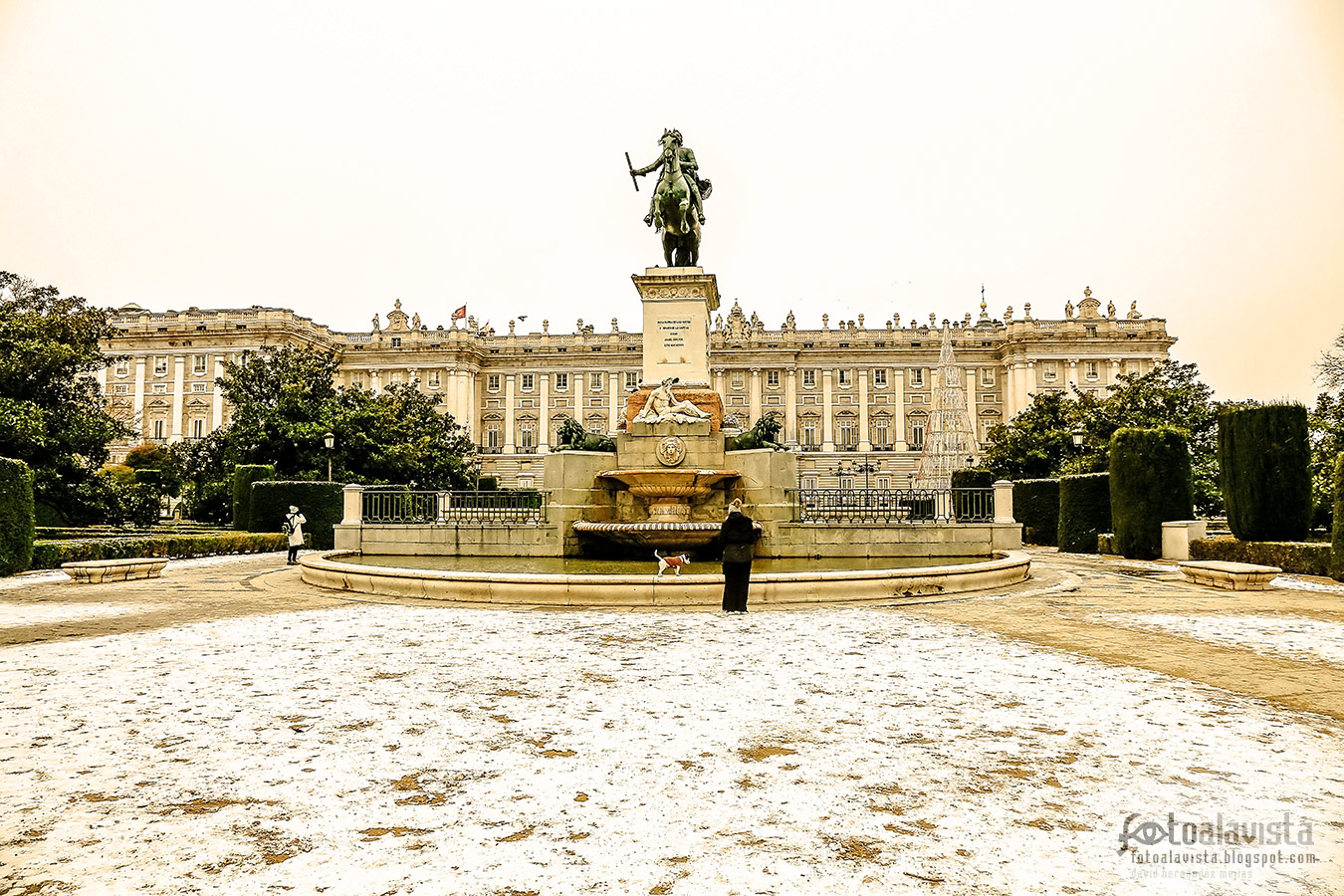 Plaza de Oriente inédita - Fotografía